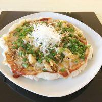 フライパンで作る海鮮もちピザ