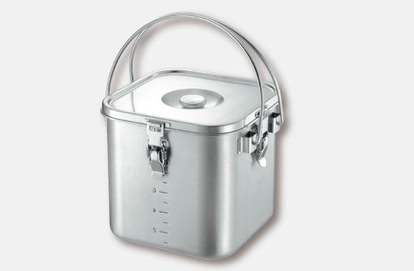 IH対応 スタッキング角型給食缶