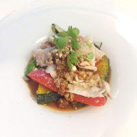 豚肉と揚げ野菜の四川風