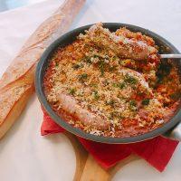 豆とソーセージのカスレ風
