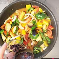 夏野菜とかじきまぐろのオーブン焼き④