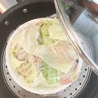 挽き肉ときくらげ レンコンの蒸し物⑦